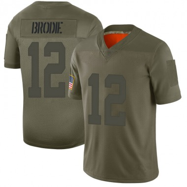 Men's Nike San Francisco 49ers Wilson John Brodie 2019 Salute to Service Jersey - Camo Limited