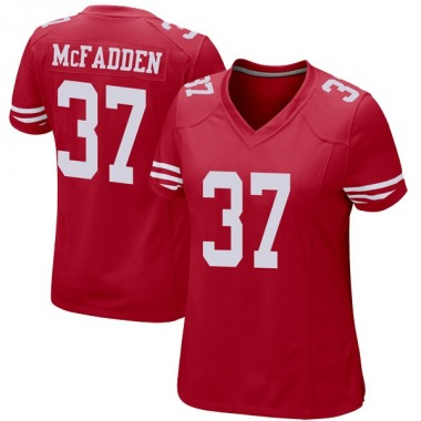 Women's Nike San Francisco 49ers Tarvarus McFadden Team Color Jersey - Red Game