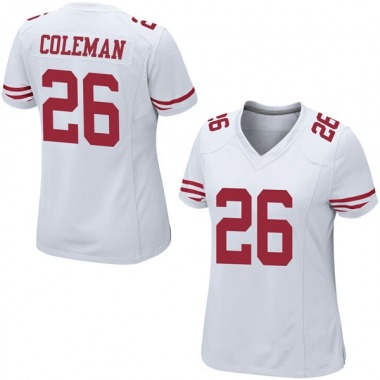 Women's Nike San Francisco 49ers Tevin Coleman Jersey - White Game