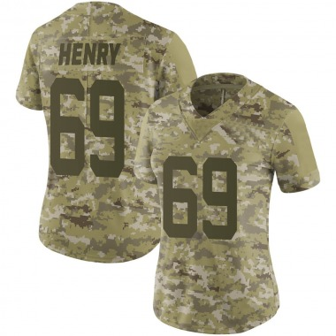 Women's Nike San Francisco 49ers Willie Henry 2018 Salute to Service Jersey - Camo Limited