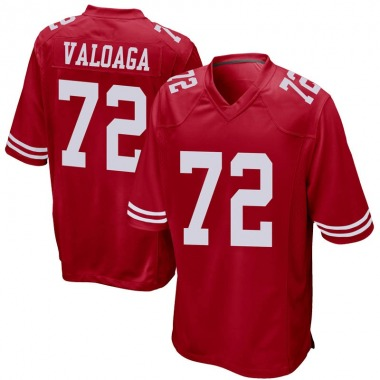 Youth Nike San Francisco 49ers Jeremiah Valoaga Team Color Jersey - Red Game