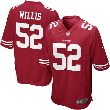 Youth Nike San Francisco 49ers Patrick Willis Team Color Jersey - Red Game