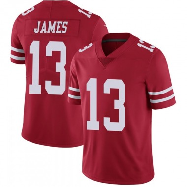 Youth Nike San Francisco 49ers Richie James Team Color Vapor Untouchable Jersey - Red Limited